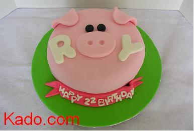 Pigs Face Single Layer Birthday Cake Kadocom
