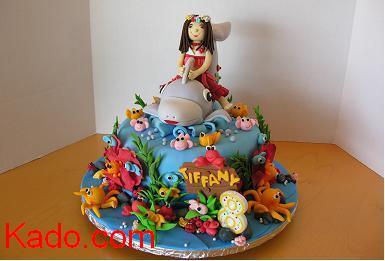 Groovy Dolphin And A Girl Birthday Cake Kado Com Funny Birthday Cards Online Alyptdamsfinfo