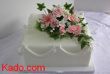 Wedding_single_layer_square_cake_kado_com_print
