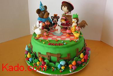 Awesome Little Bear Tv Series Characters Birthday Cake Kado Com Funny Birthday Cards Online Alyptdamsfinfo