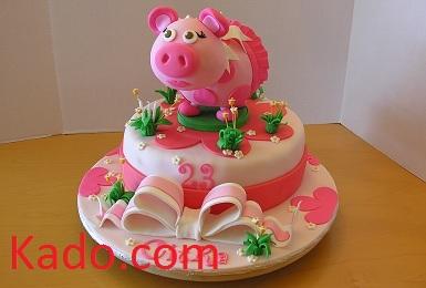 Awe Inspiring Piggy Birthday Cake Kado Com Funny Birthday Cards Online Necthendildamsfinfo